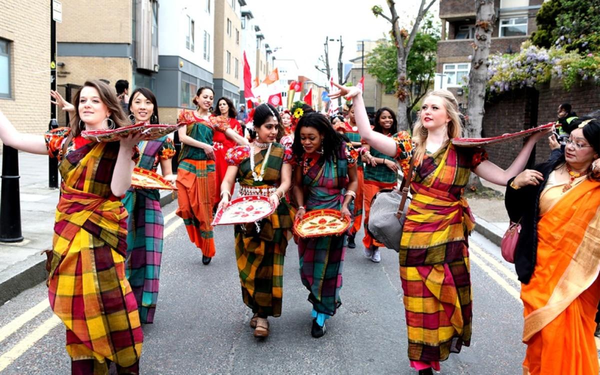 Celebrating Bengali New Year (pohela-boishakh) in Newyork.