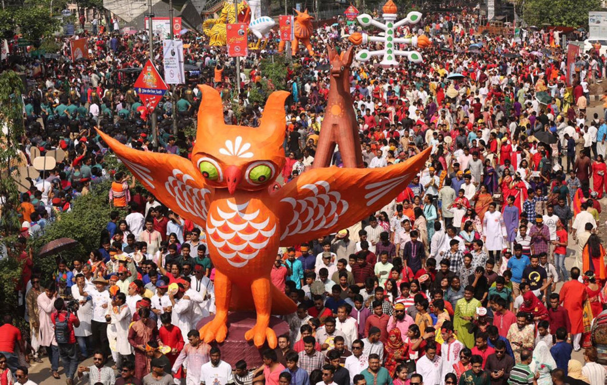 Mars procession of Bangla New Year