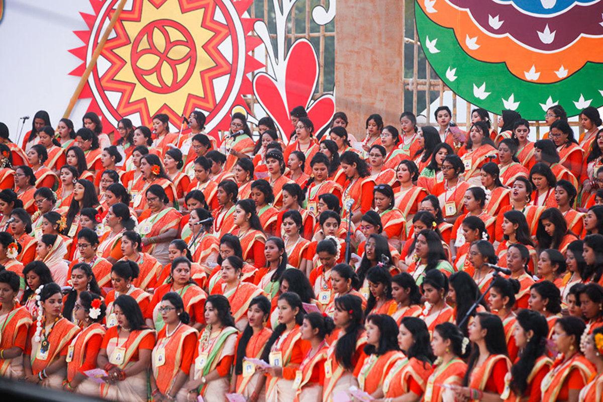 Chhayanat program at the base of Ramna Banyan tree