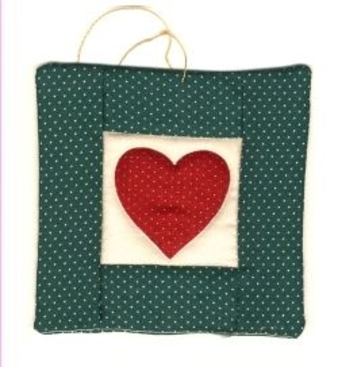 Quilted Heart Handmade Christmas Tree Ornaments