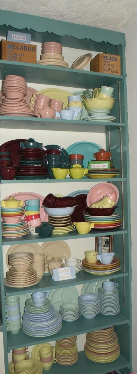 Ira Mency's Russel Wright Melmac Shelves