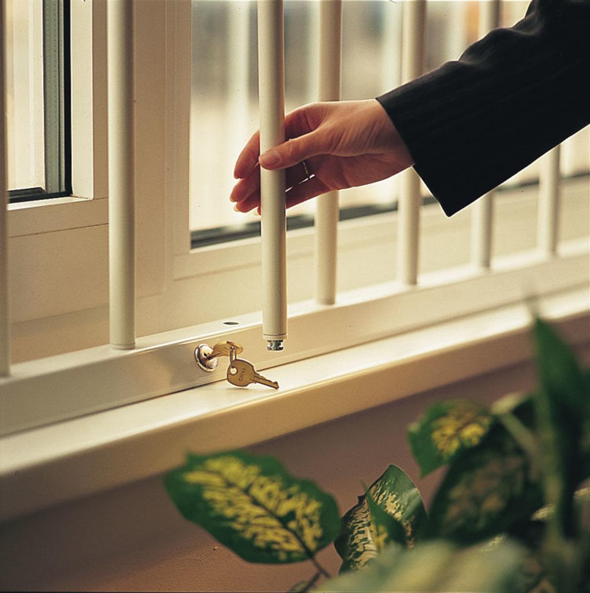 Alarmed Security Window Bars
