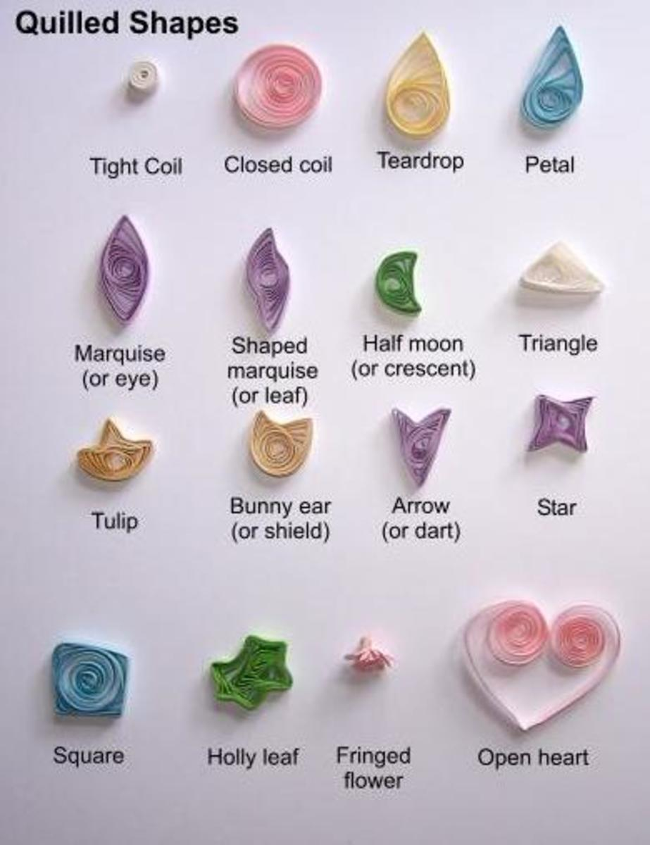 Paper-quilling shapes
