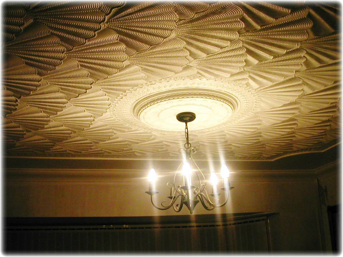 I created this Drywall Texture effect using a set of 'Texturing Comb tools' straight onto a step down coved ceiling feature. Check out my youtube videos for creative comb tool tips