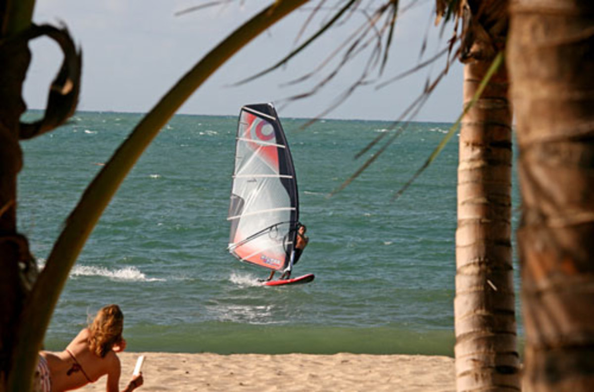 A variety of winds make Cabarete a great windsurfing destination.