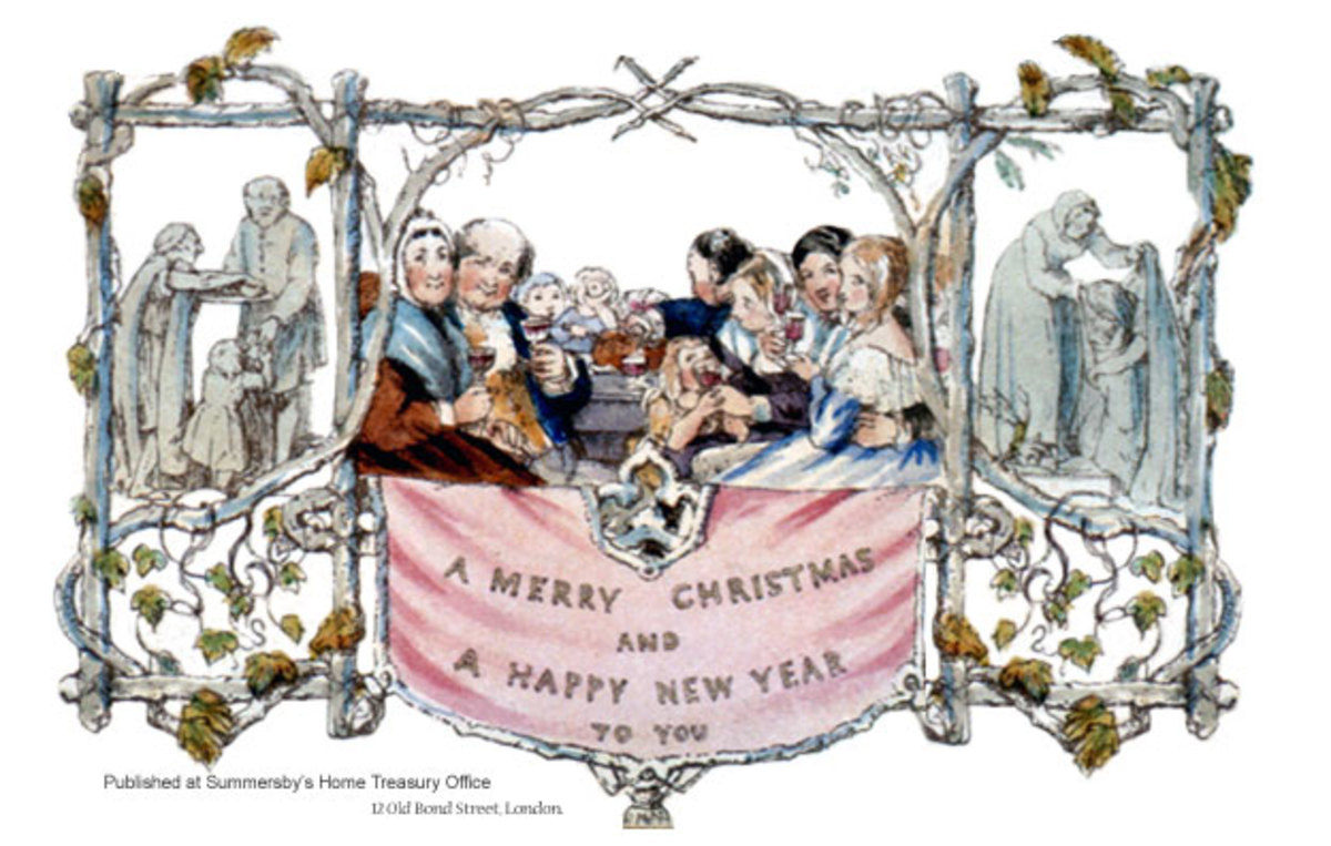 First Christmas Card Created by John Callcott Horsley