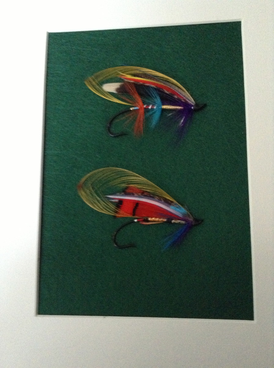 Another pair of my framed Atlantic salmon flies