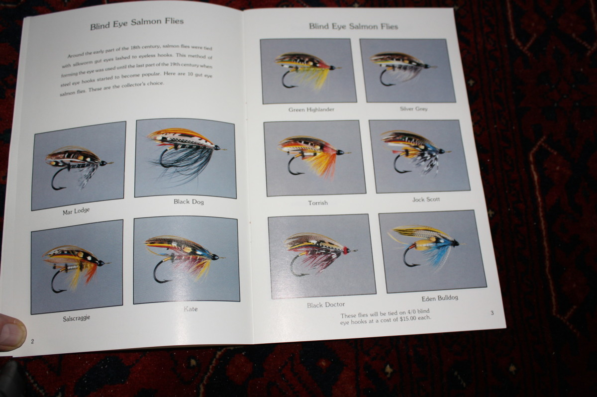These are my 1982 renditions of some of the more well known classic salmon flies. They are from my second catalog.