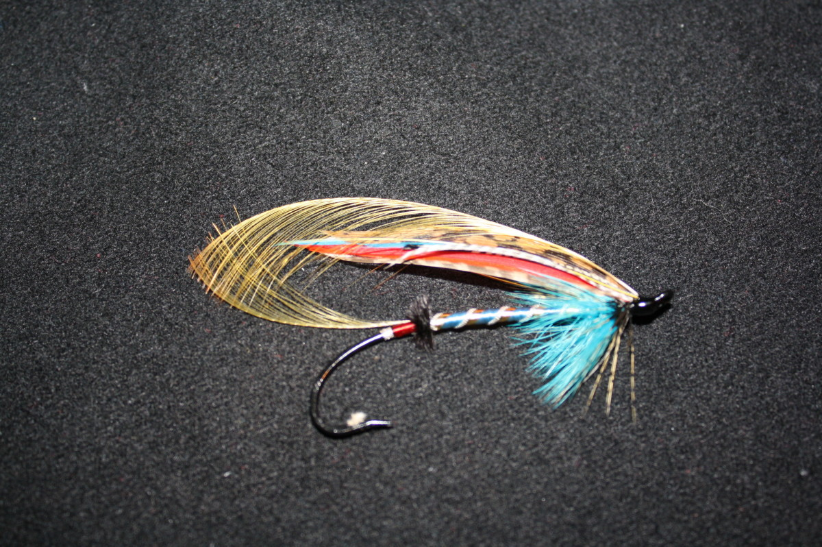"This is my second classic, atlantic salmon fly dressed in almost two years. It's a mate to my ""Lady In Red"""