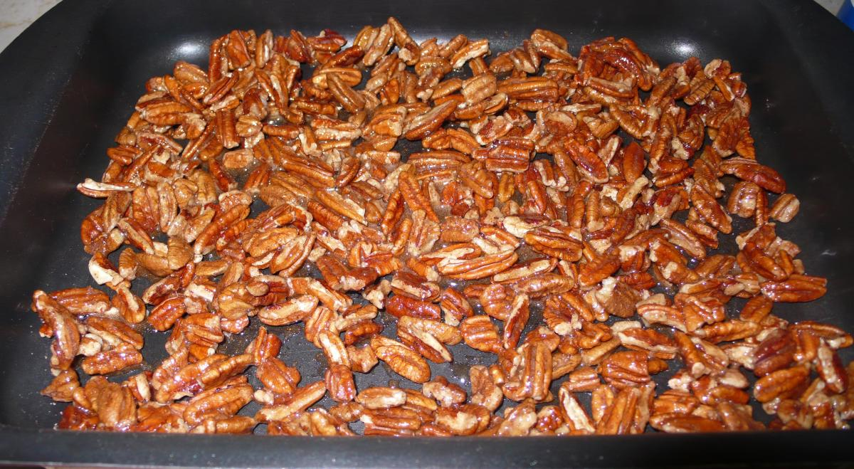 Spread evenly on baking sheet and place on the middle rack of the oven.
