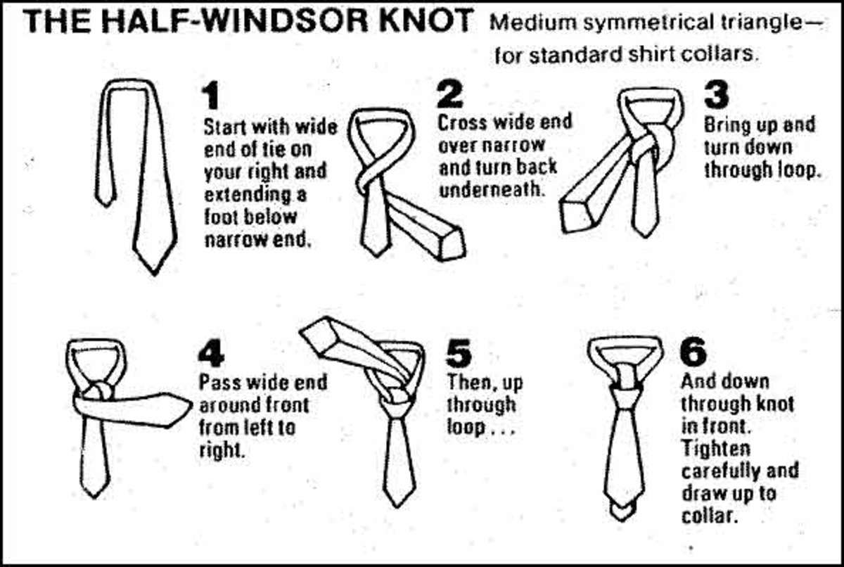 How To Tie A Tie Properly Using The Windsor Knot Hubpages