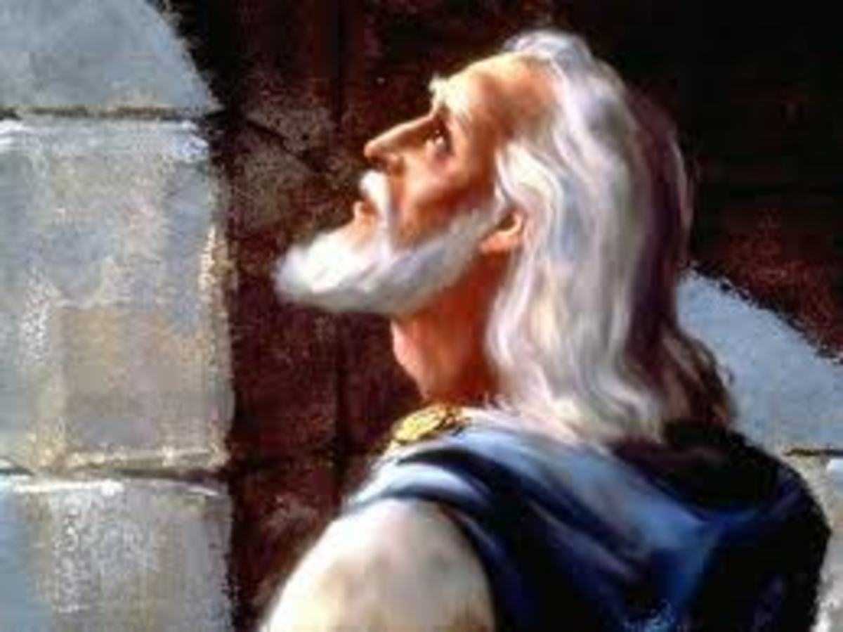 Daniel praying to God