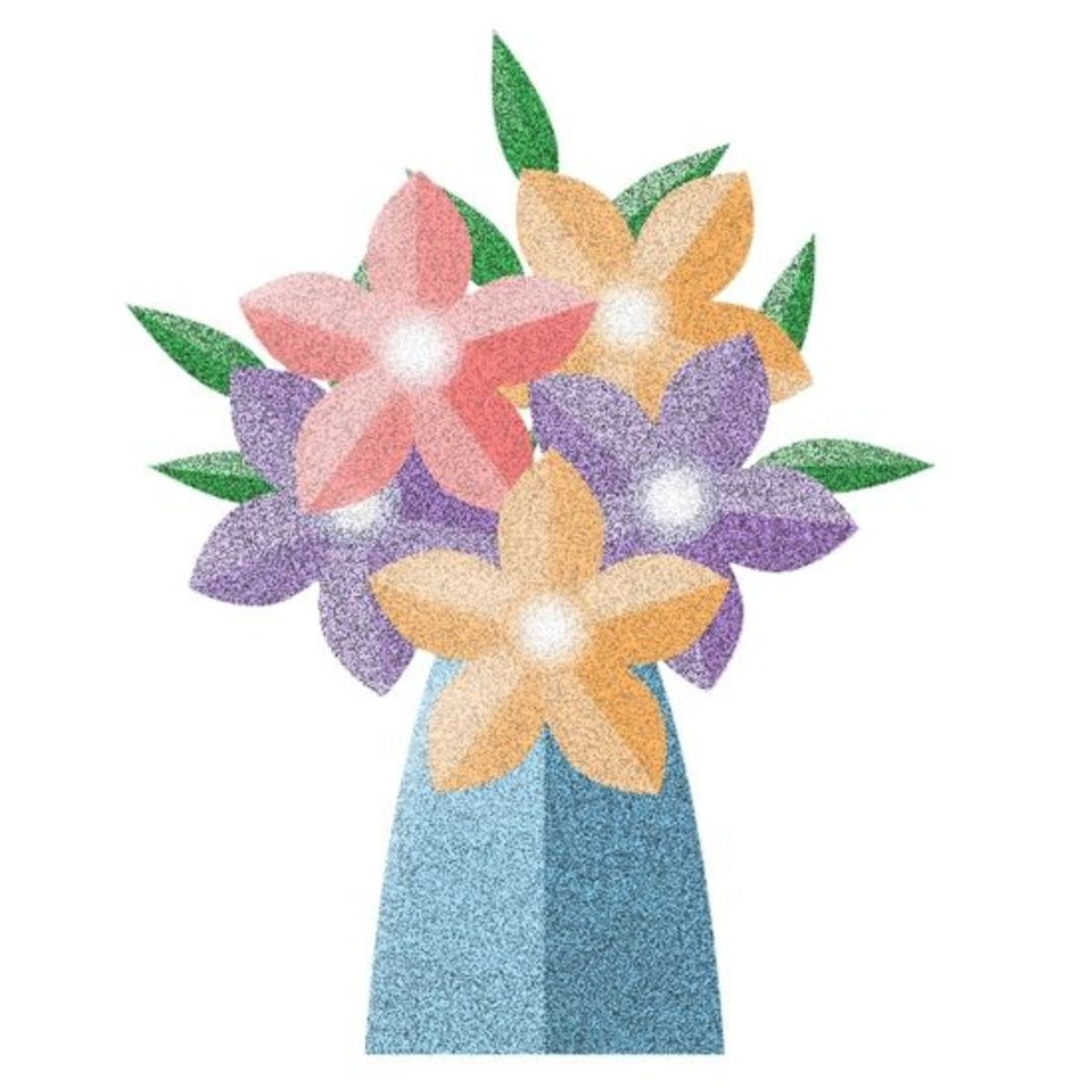 Spring Clip Art Flowers in Vase