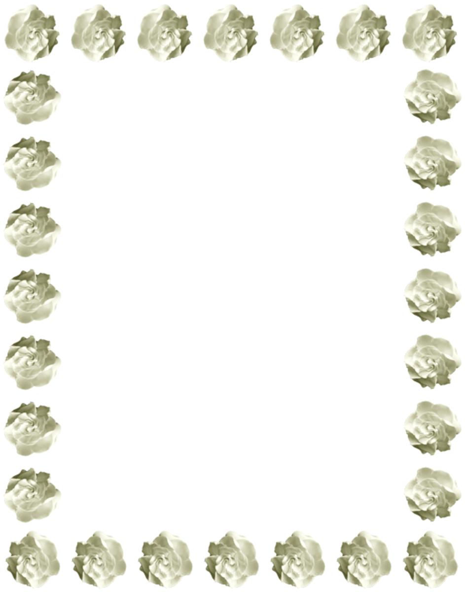 Gardenias Clip Art Frame