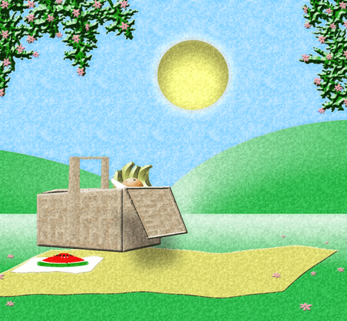 Spring Picnic Clipart