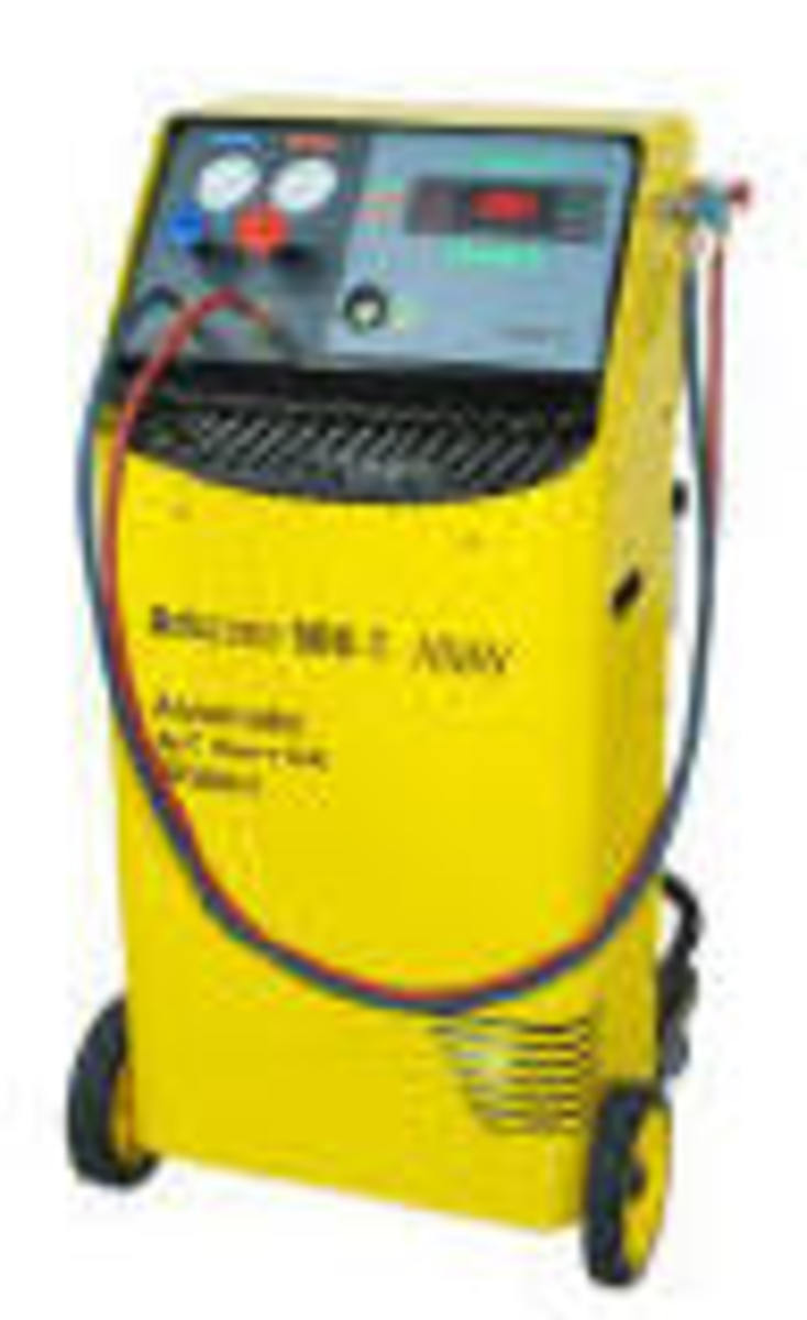 Only the very best fully automatic air conditioner repair station that weighs, cleans, stores and recycles all gases.