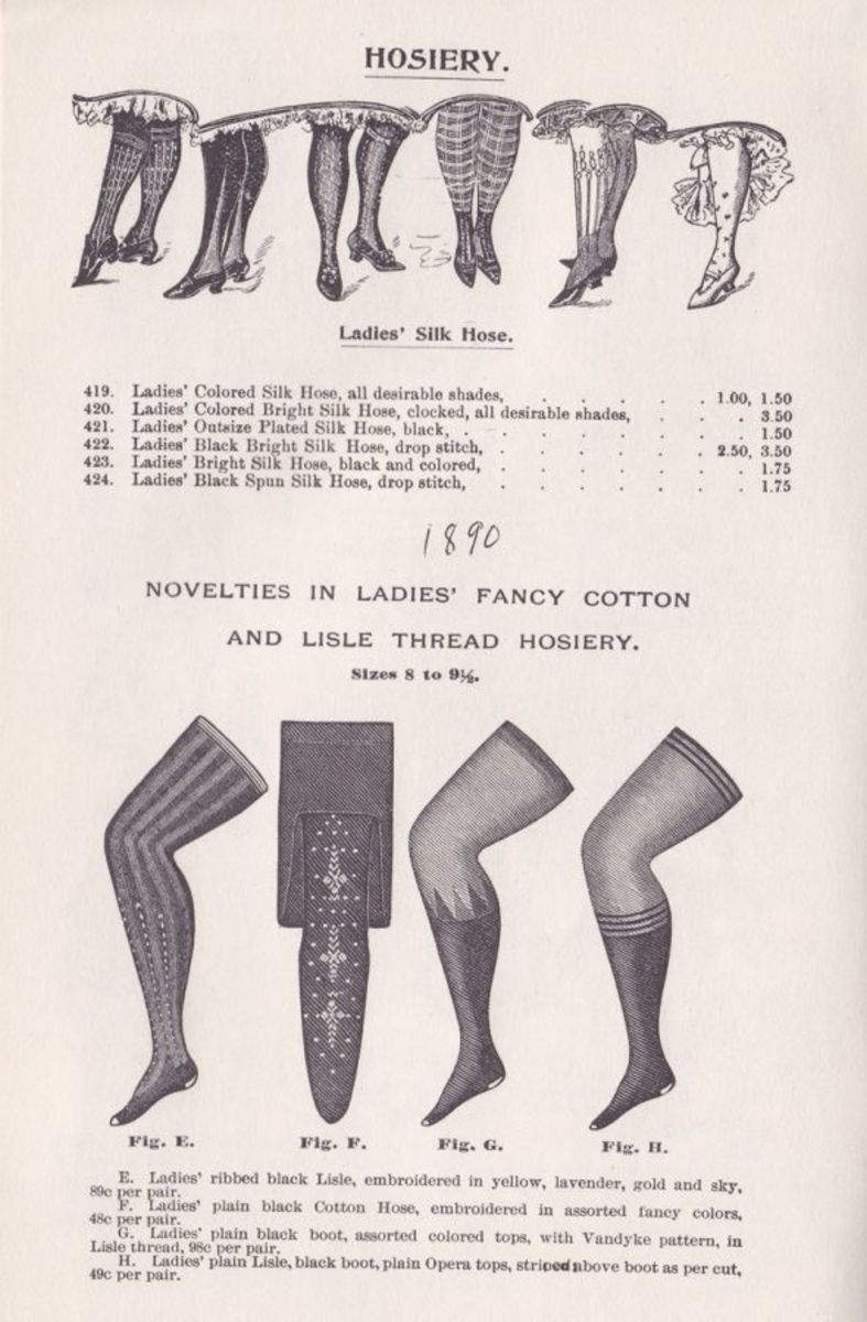 VICTORIAN WOMEN'S HOSIERY & STOCKINGS