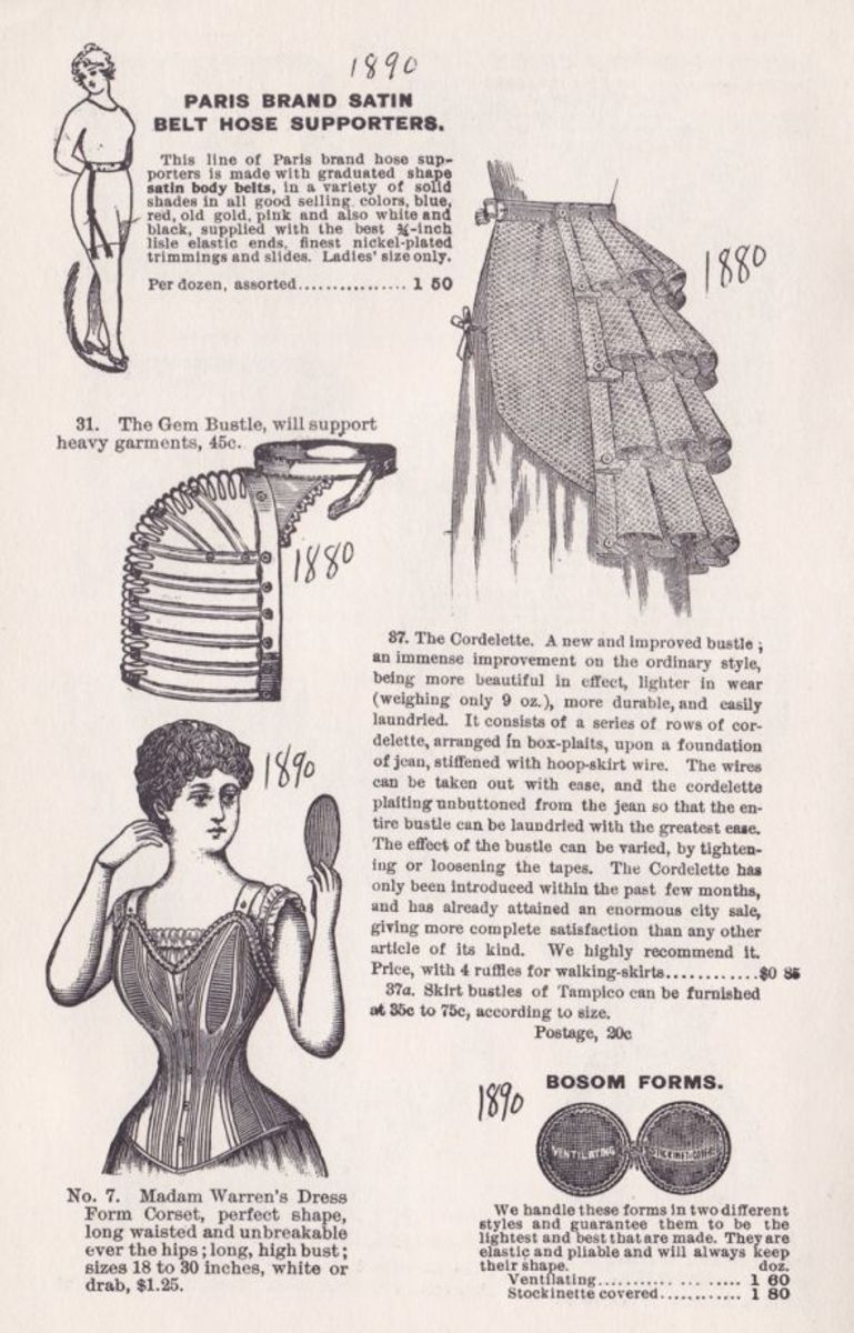 VICTORIAN CORSETS AND FOUNDATIONS