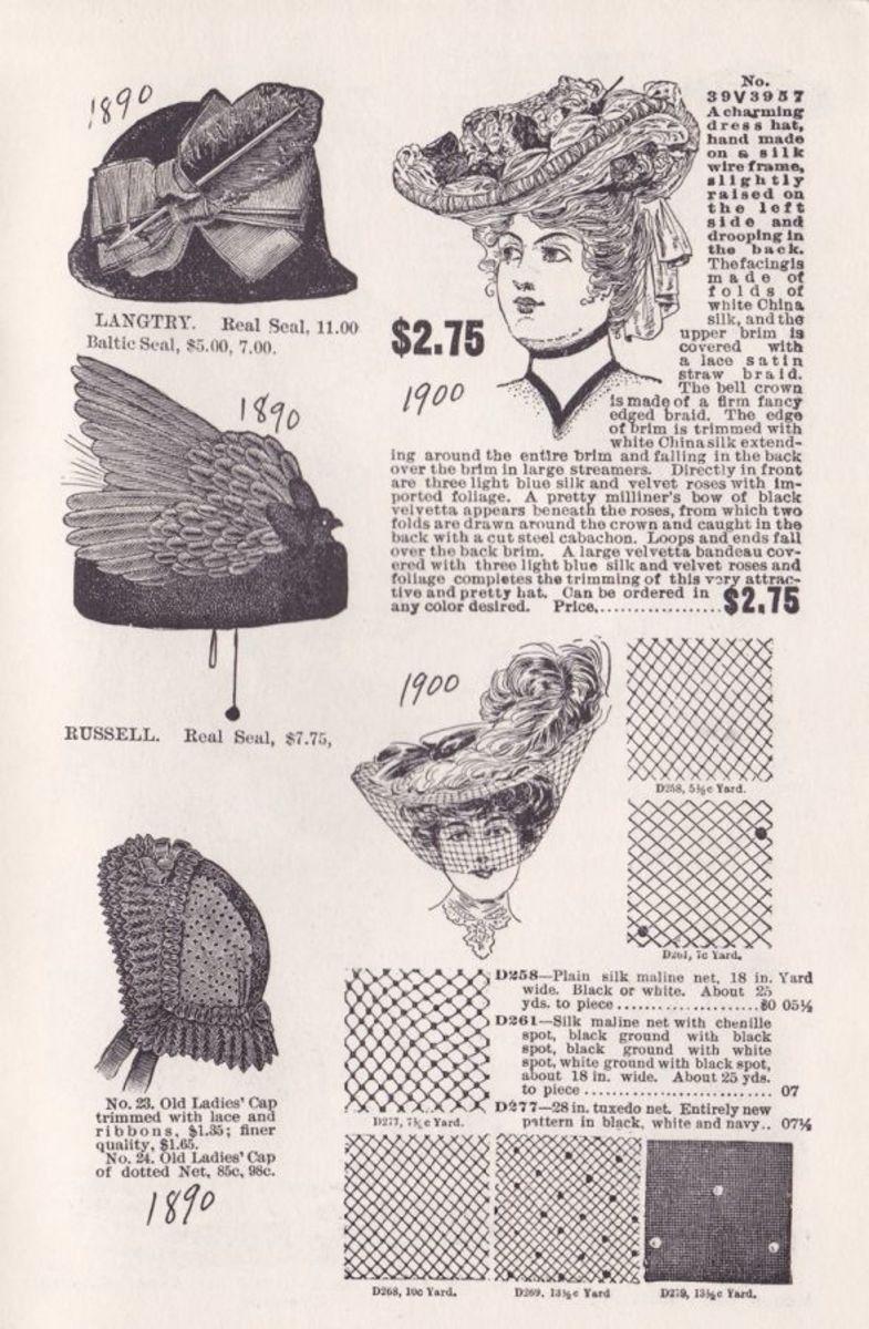 VICTORIAN WOMEN'S HATS
