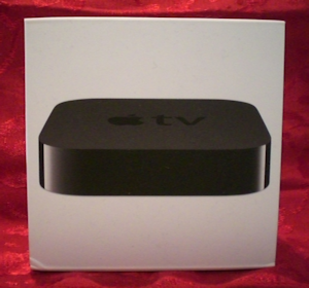 Front of packaging box for Apple TV.