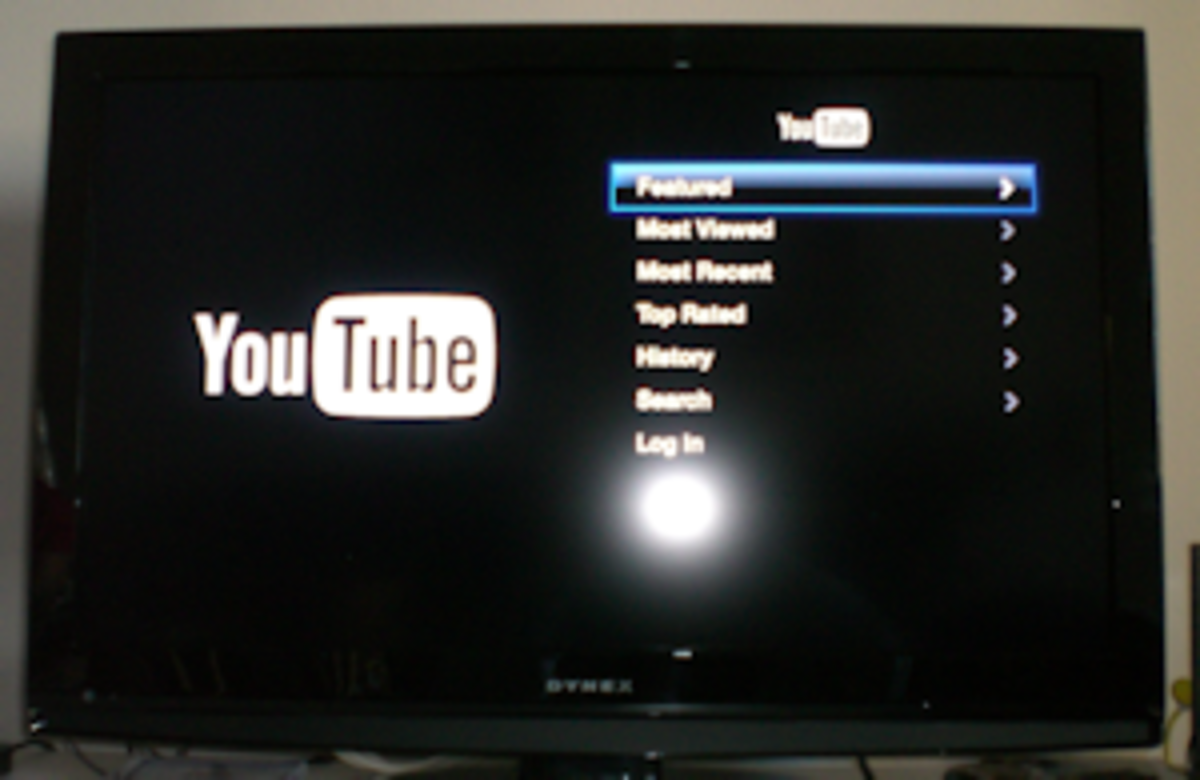 Youtube on Apple TV.