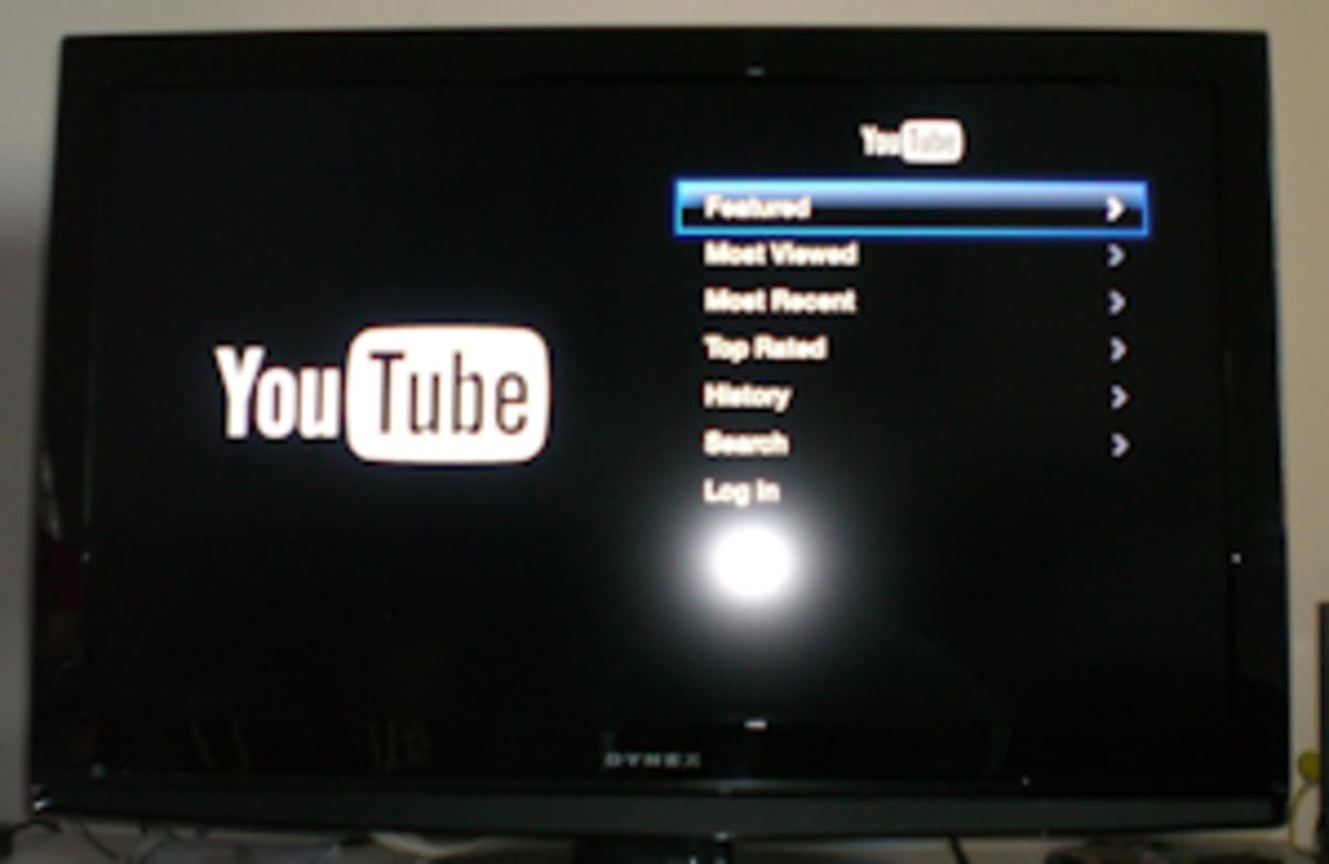 Youtube on Apple TV.