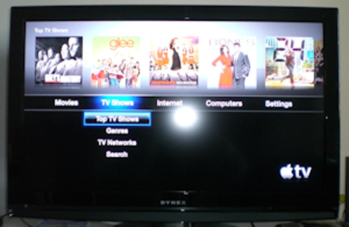 TV Shows menu.