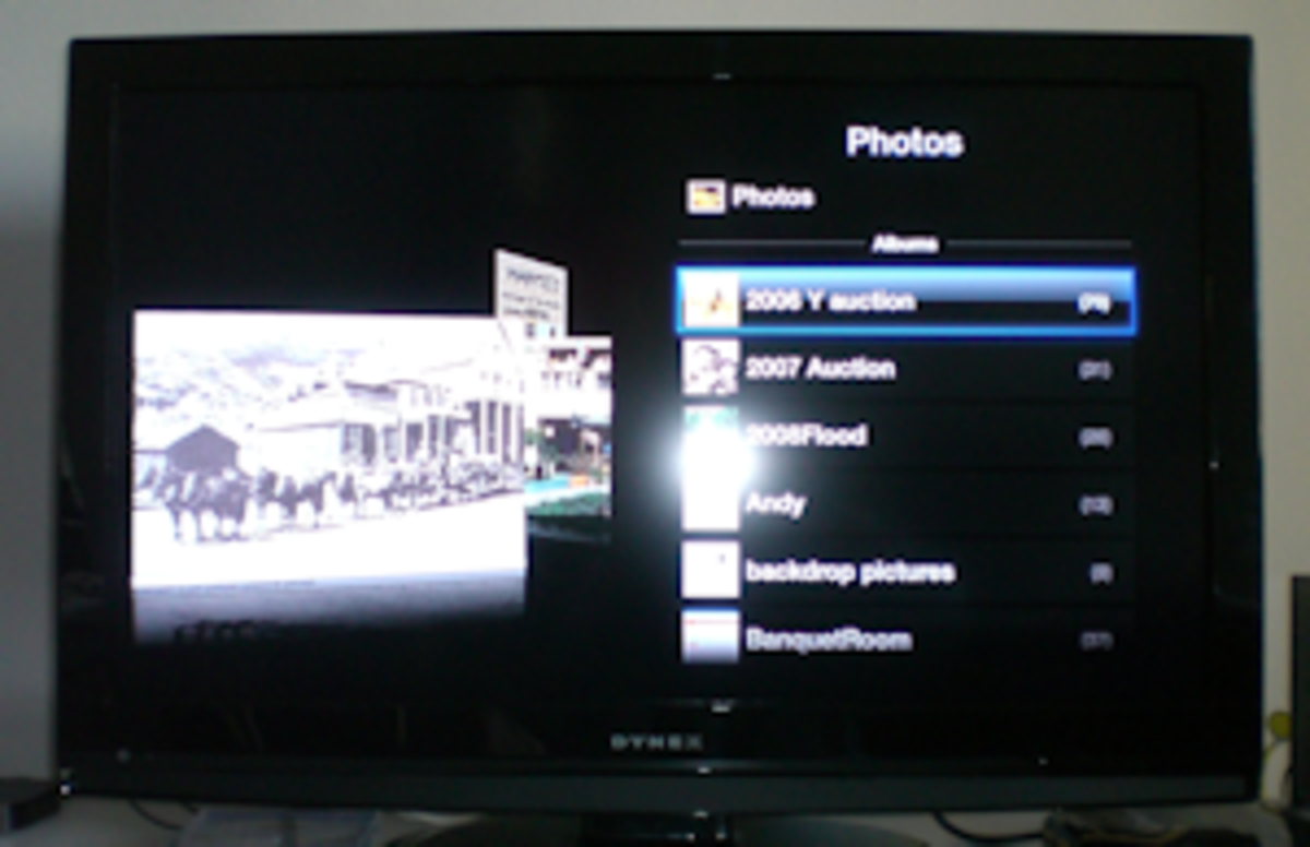 Photos menu accessed from my desktop computer.