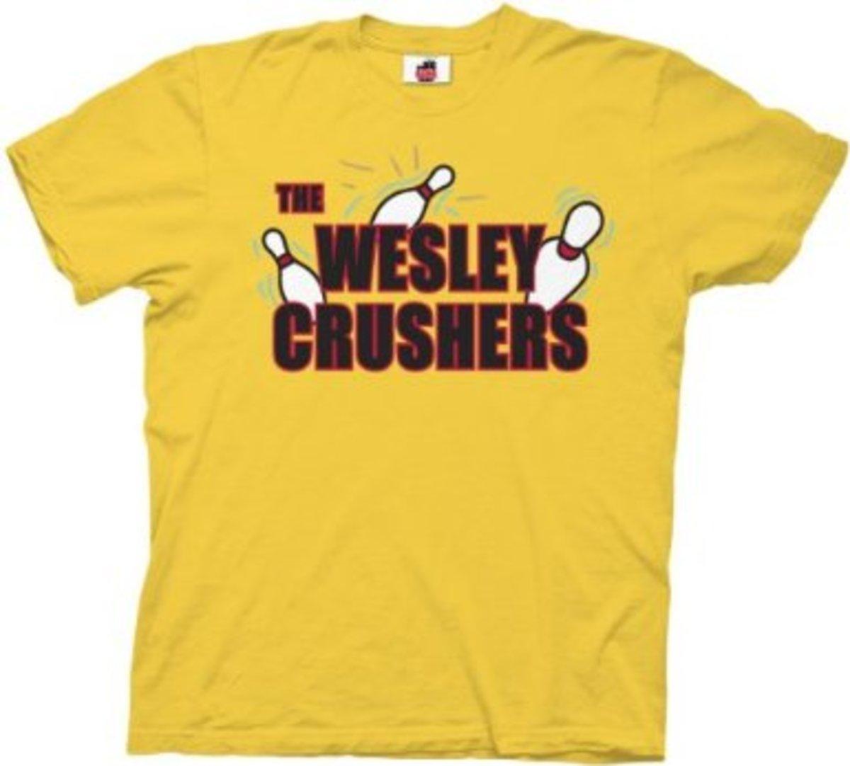 Sheldon Cooper Shirts:  Wesley Crusher's Bowling Shirt