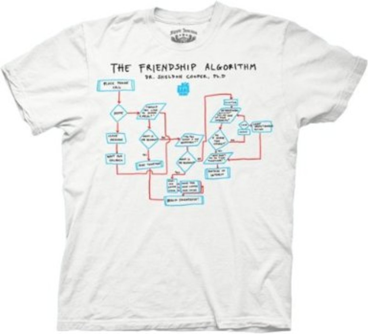 Sheldon Cooper Shirts:  Friendship Algorithm T-Shirt