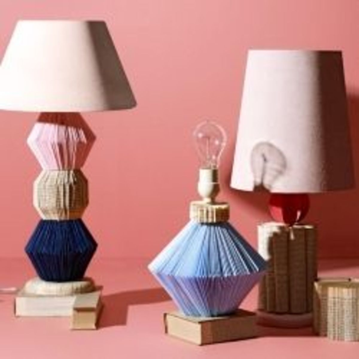 Literary Lamp made from recycled books- Image from ReadyMade.com