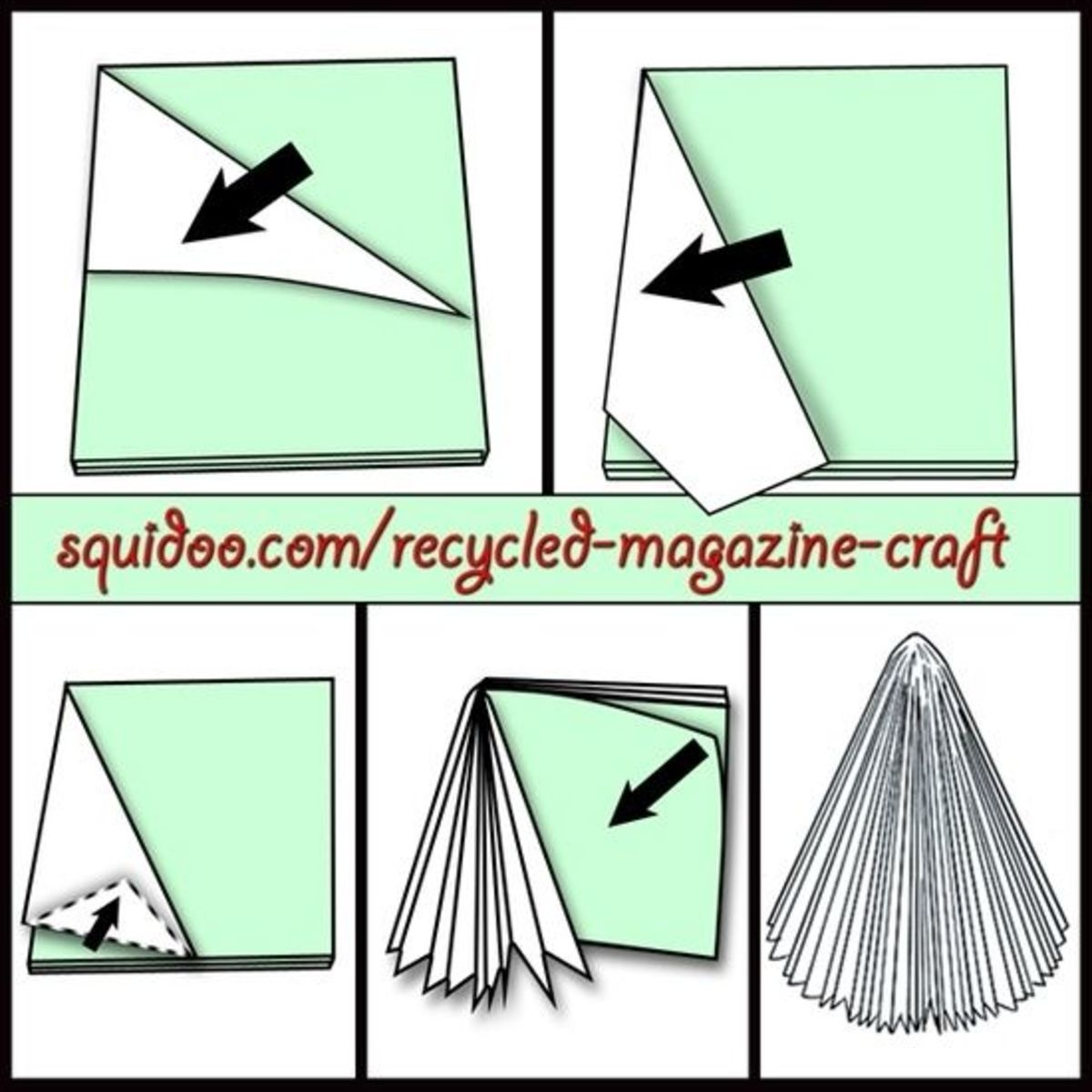 how to make a tree with an old magazine