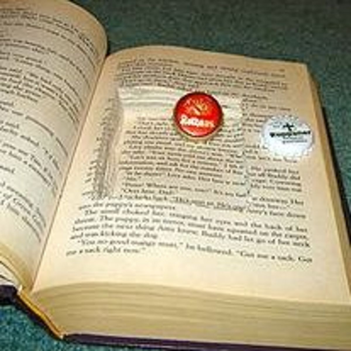 "Image of a hollow book, aka ""booksafe"" from wikimedia commons"