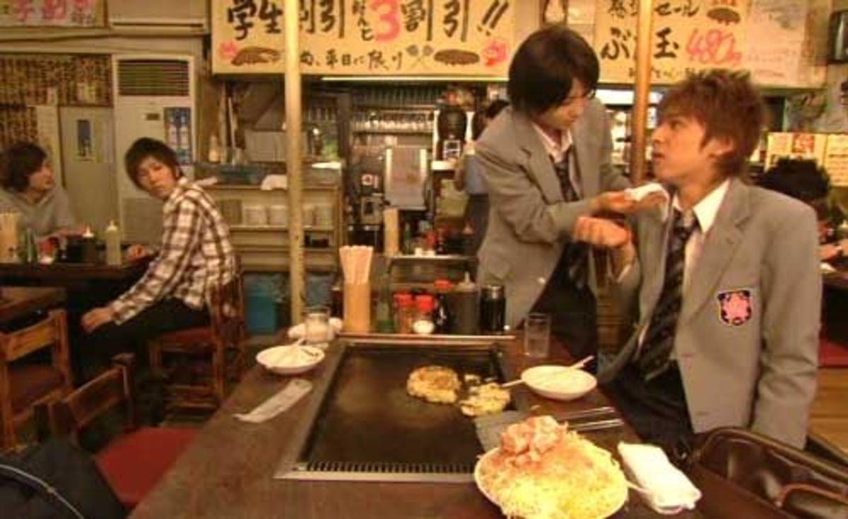 Monjayaki at Tsukishima Komachi