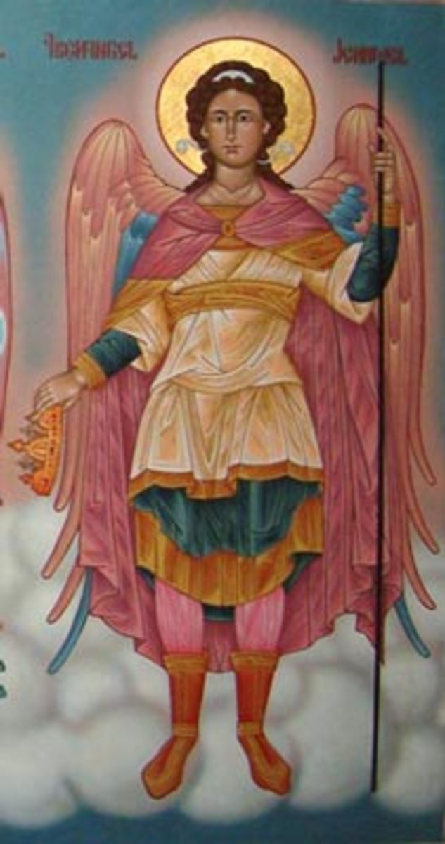 """Jehudiel - One of the """"7 Heavenly Princes"""" in Orthodox tradition (Russian Painting)"""