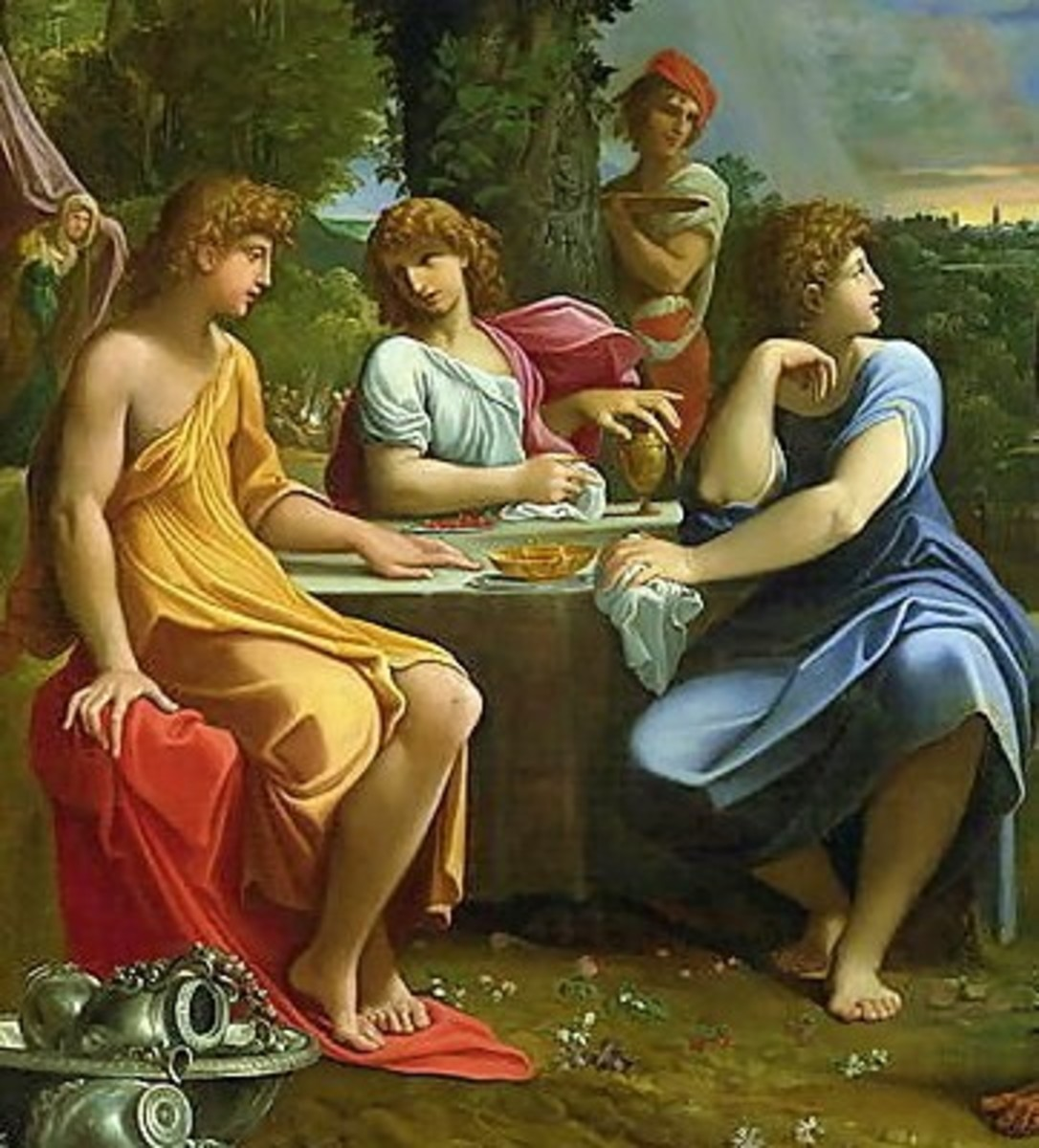 """""""Abraham and the Three Angels"""" - by Ludovico Carracci (1555-1619) - Pinacoteca Nazionale - Bologna, Italy"""