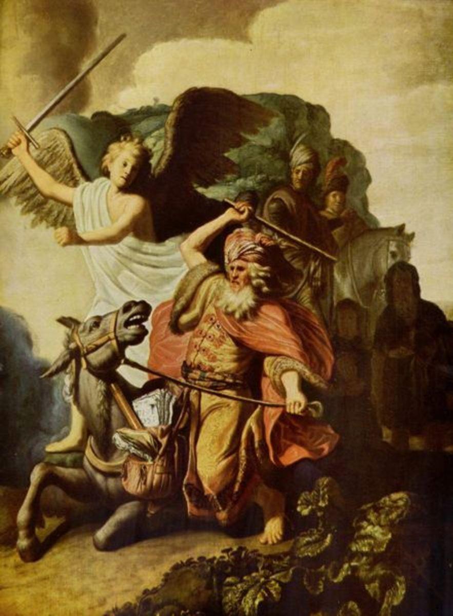 """Balaam the Prophet and the Ass"" - by Rembrandt van Rijn (1626) - Cognacq-Jay Museum - Paris"