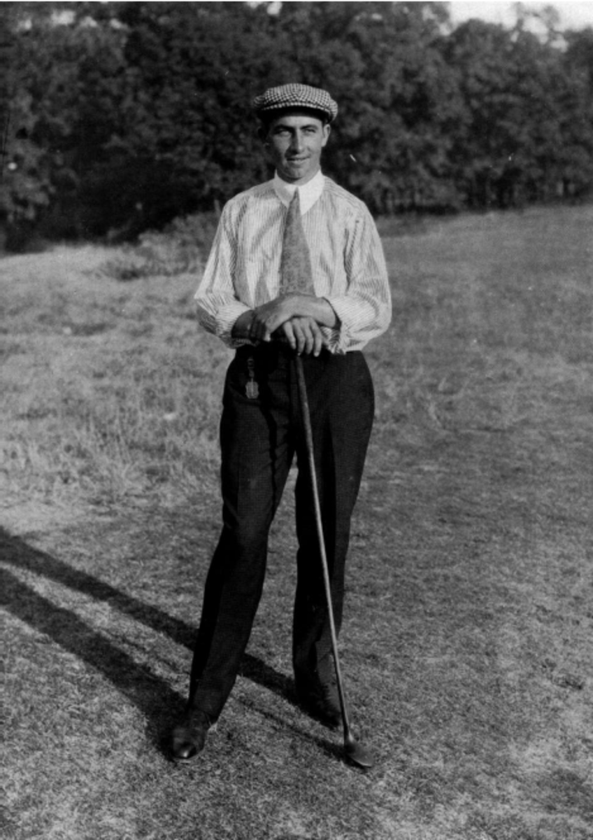 Walter Hagen in 1914, the year he won his first major championship - the US Open.