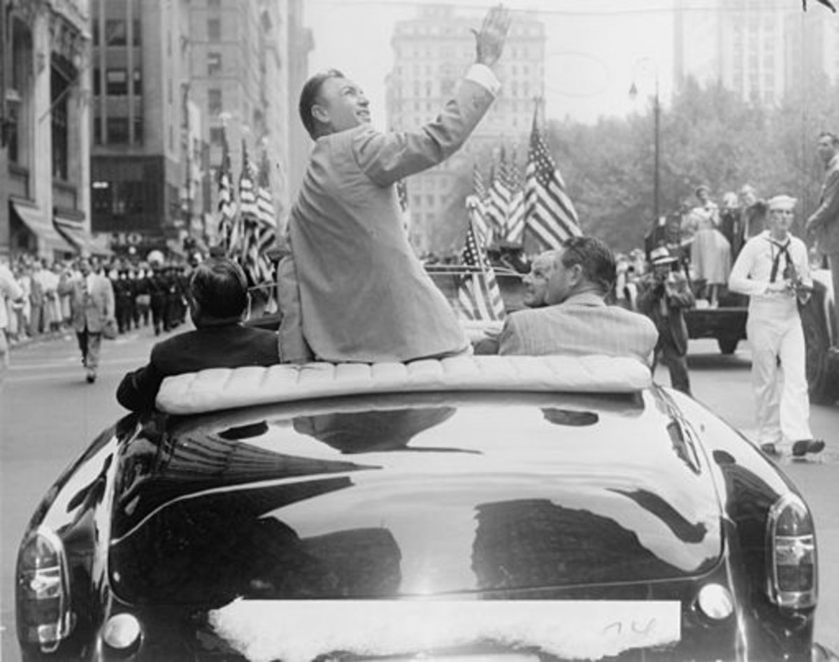 Back From War: Ben Hogan during his homecoming parade after winning the British Open in 1953.
