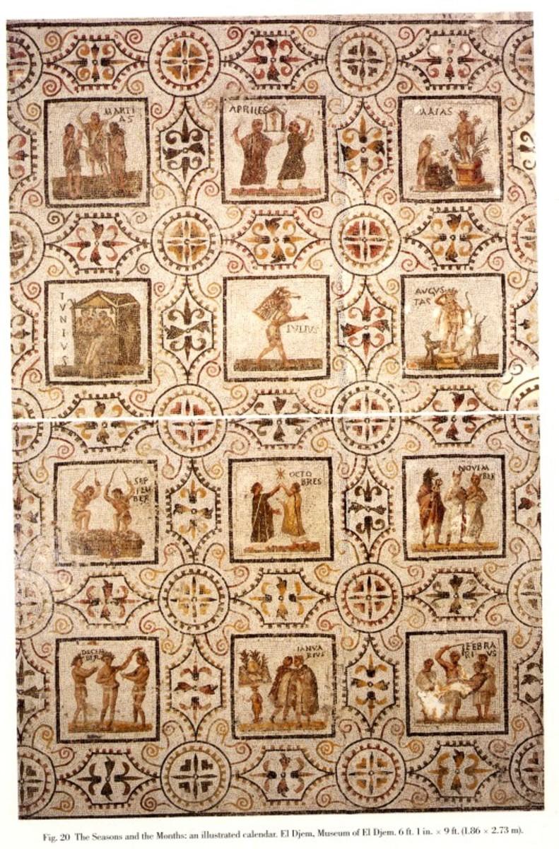 Roman Mosaic -Seasons