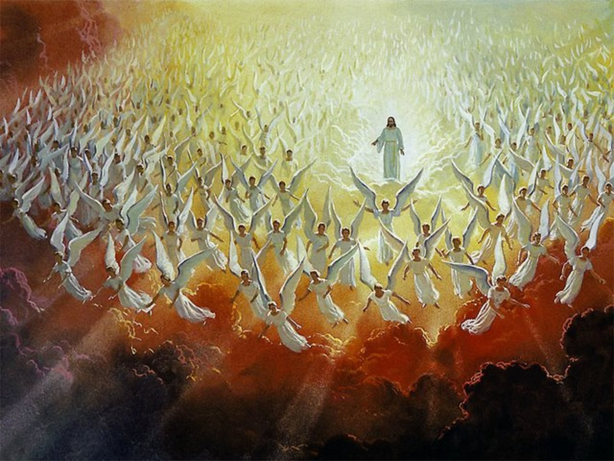 Jesus with the Army of Heavenly Host