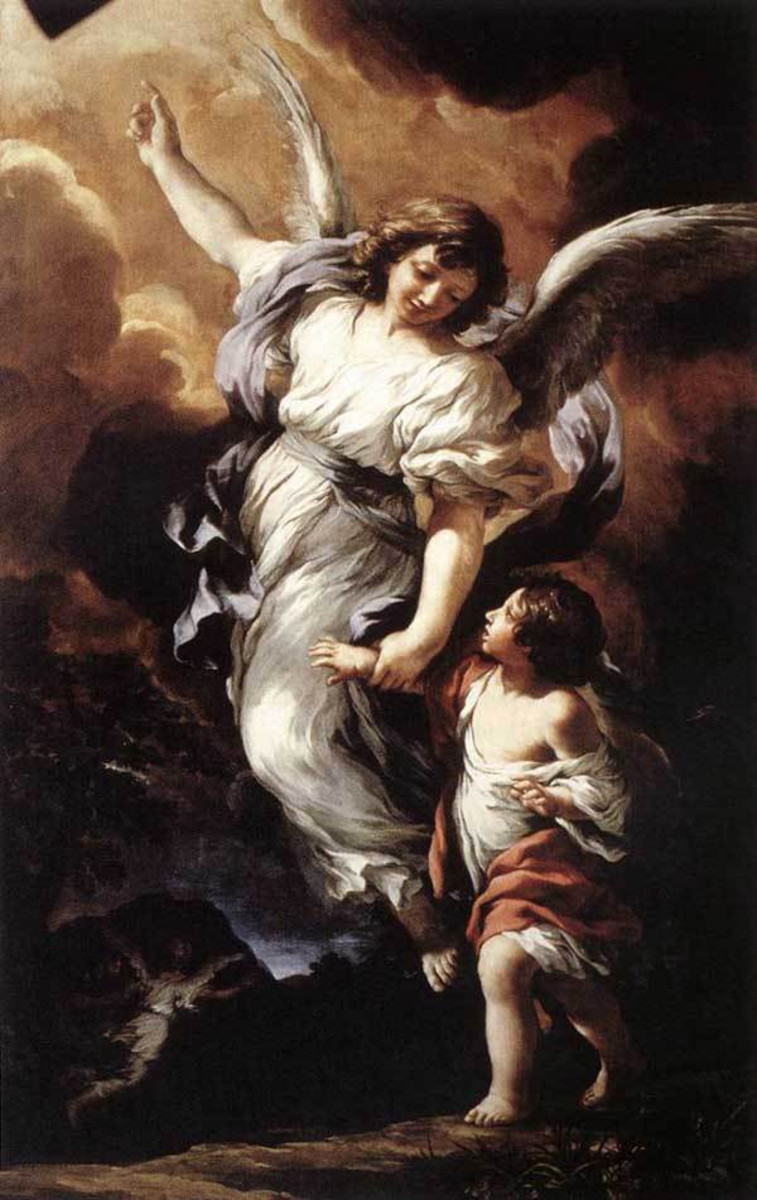 """Guardian Angel"" - by Pietro Cortona (1656) - Antica National Art Gallery - Rome"