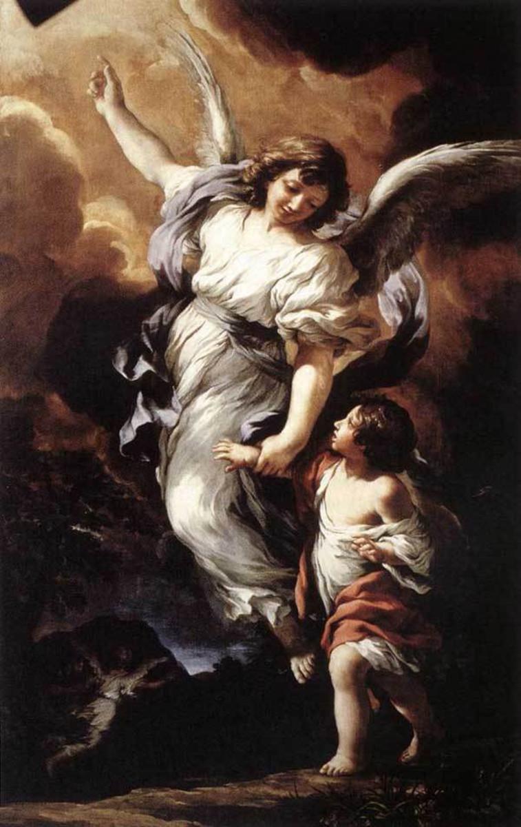 """Guardian Angel"" - by Pietro Cortona (1656) - Antica National Art Gallery - Rome"