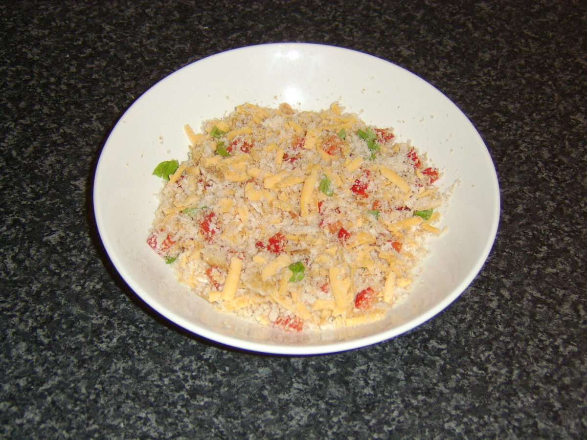 Prepared Cheese and Herb Topping
