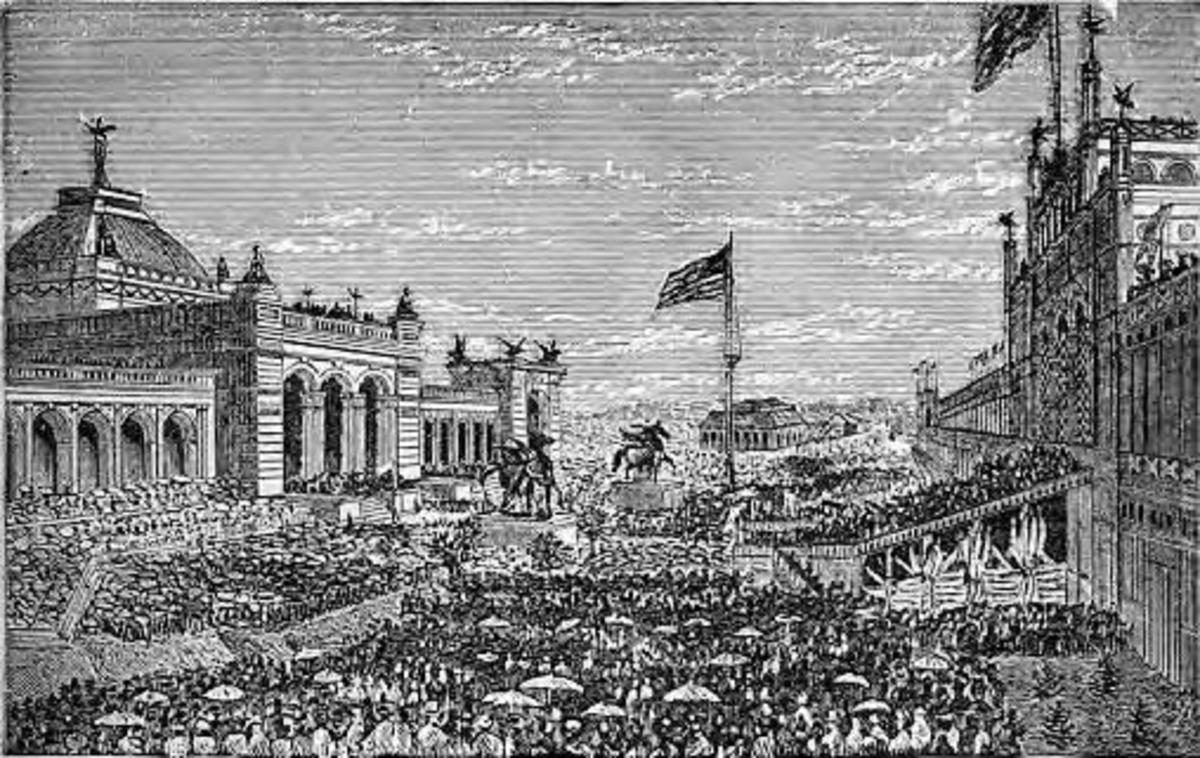 Philadelphia Centennial Exposition 1976, Opening day ceremonies, source: Wikipedia