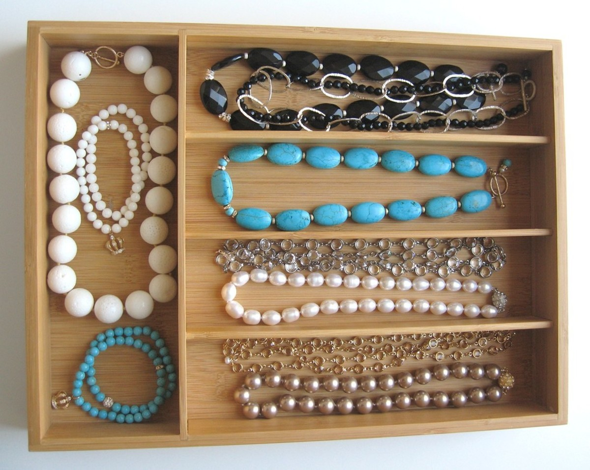 Idea#1: Storing necklaces in divided drawer