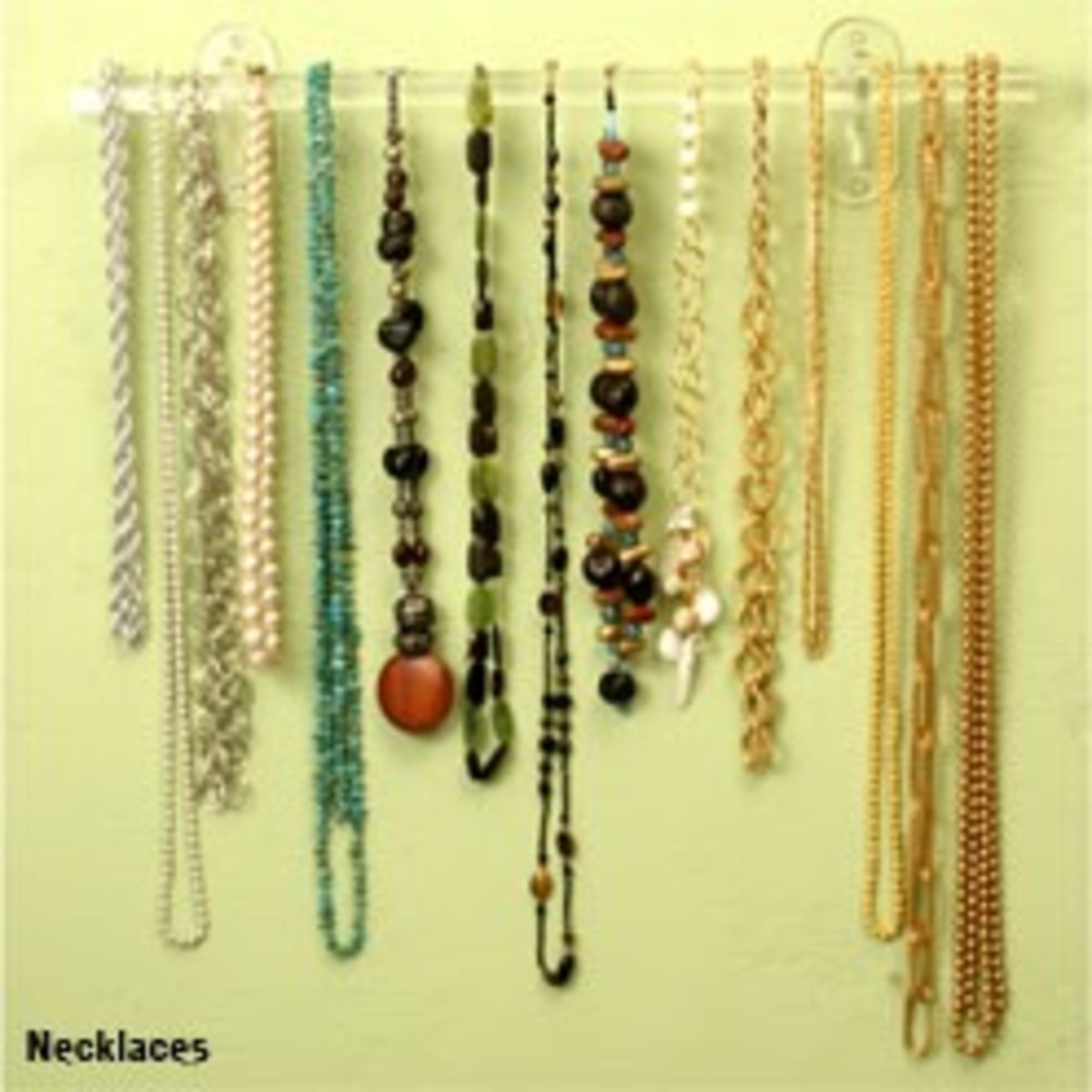 Idea#2: Hanging necklaces on a jewelry hanger