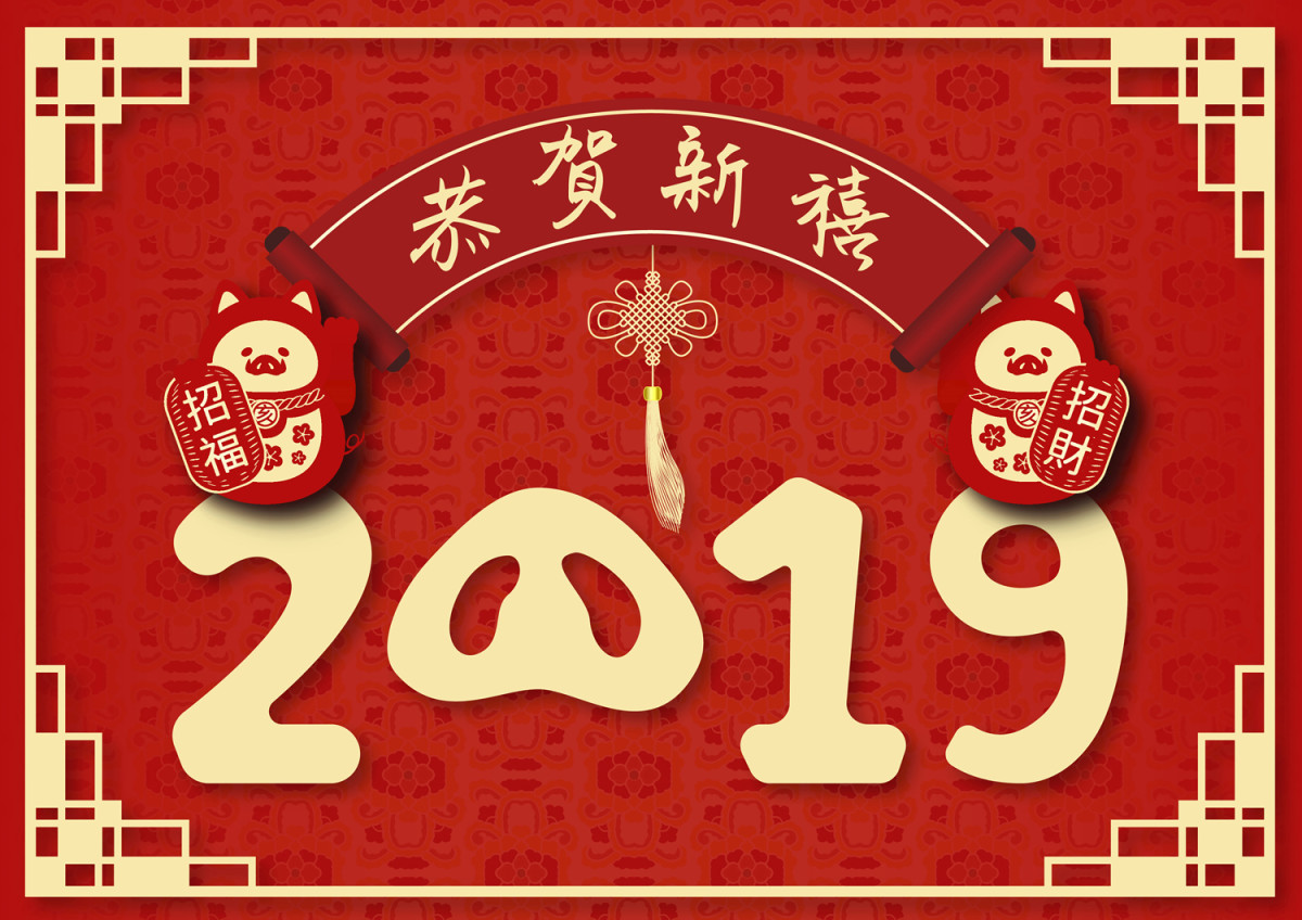 February 5 2019 marks the start of the Year of the Pig. Image: © Imagemore - Depositphotos.com