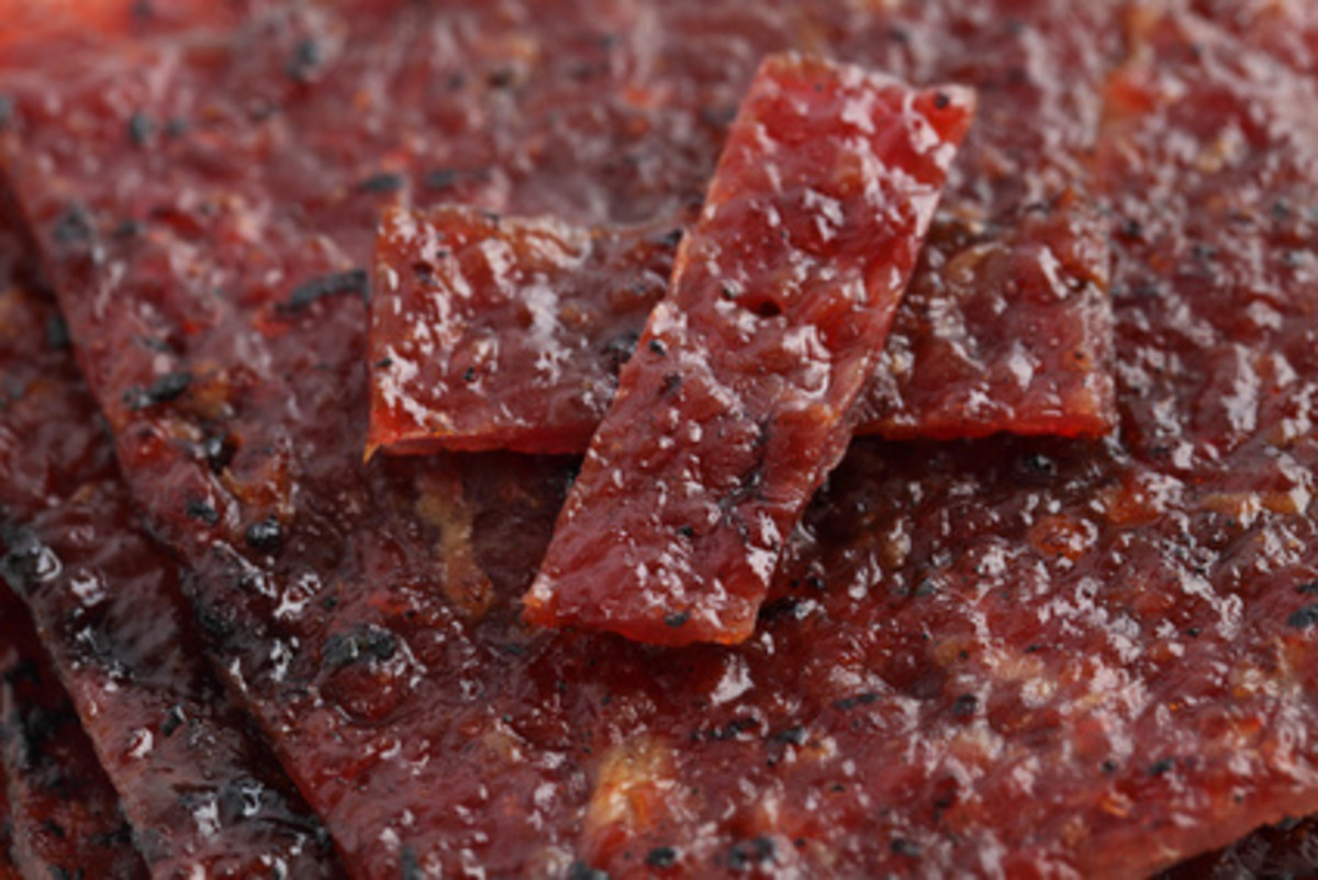 Bak Kwa (thin pressed slices of sweet barbecued pork) Image:  Mau Horng - Fotolia.com