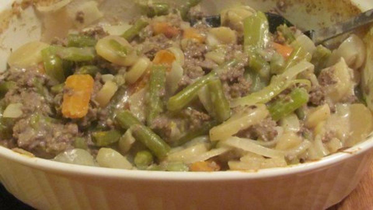 Ground Beef-Vegetable- Potato- Casserole Recipe